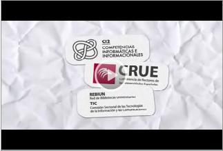 Recoge los logos de CRUE/TIC, REBIUN y CI2