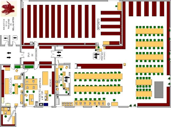 Biblioteca complutense plano bucm for Planos de bibliotecas