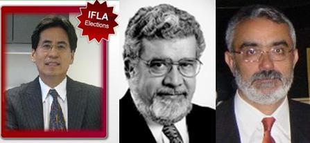 Foto de los candidatos hispanos a presidentes de la IFLA