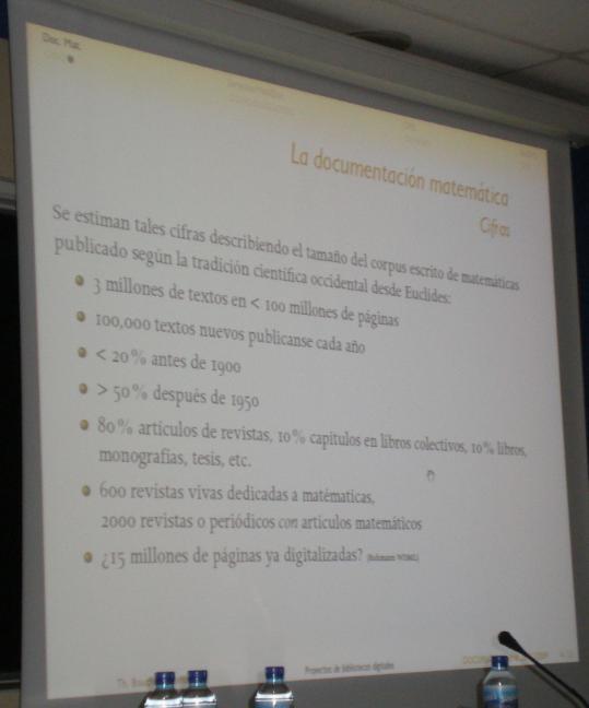 La documentación matemática