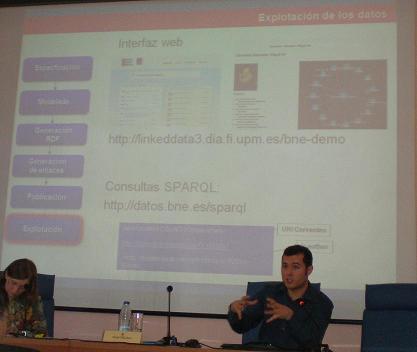 La explotación de los datos en la diapositiva