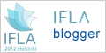 Icono con logotipo del Congreso y la indicación de ser blogero de IFLA