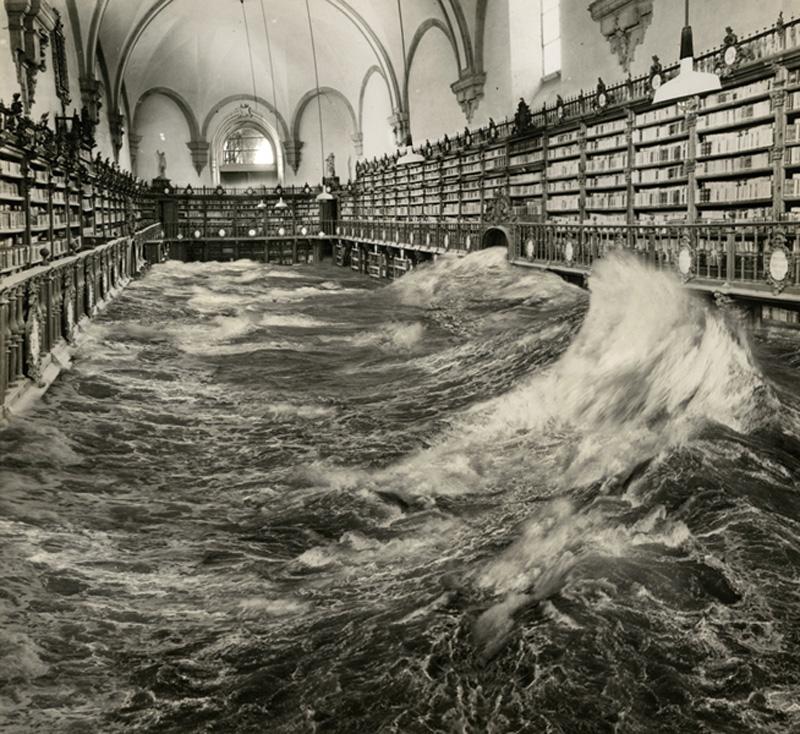 Biblioteca inundada