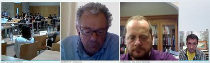 4 imágenes: de la sala, de Jordi, de José Antonio y de Fernando, el autor de la imagen