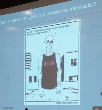 El Roto: Se ha estampado en la camiseta el lema Actúa y se pregunta qué más puede hacer