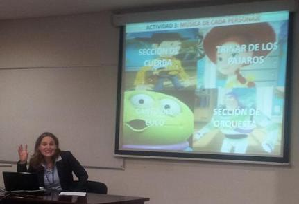 Diapositiva y ponente