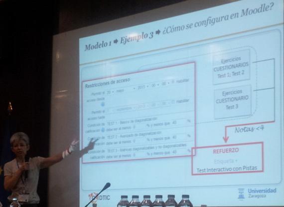 Diapositiva junto con ponente