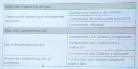 Cuestionarios para el estatus MIL y otros medios para las competencias