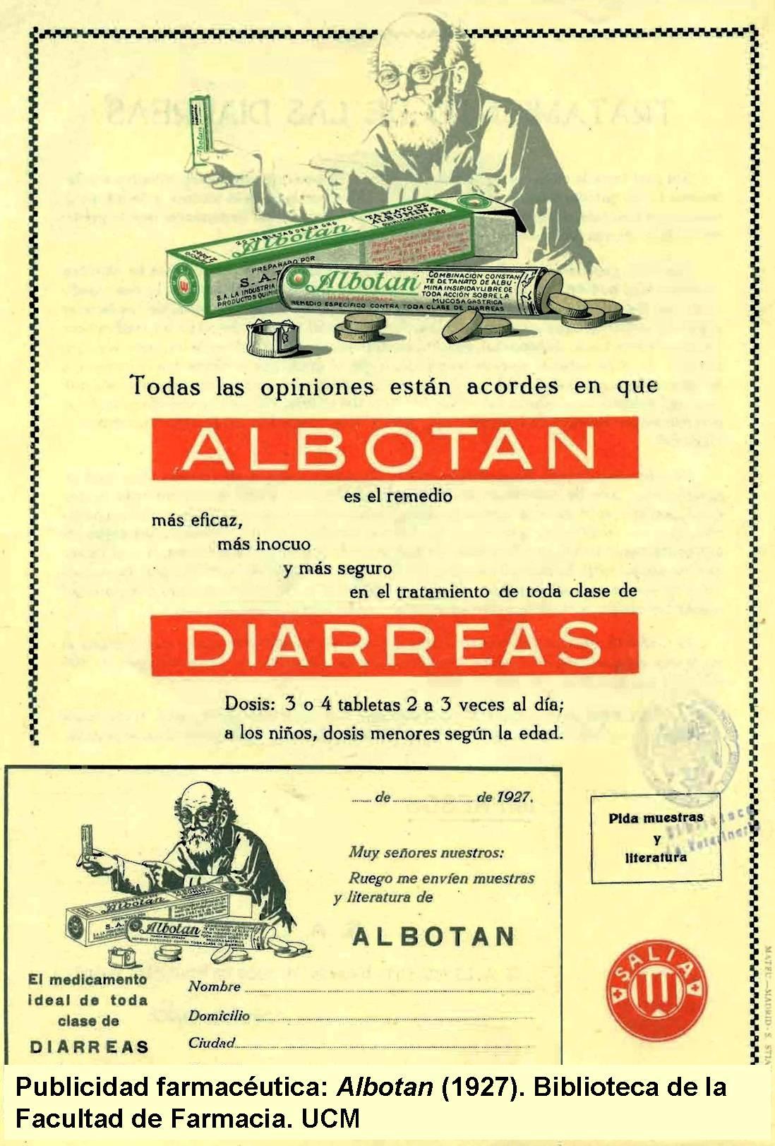 Publicidad farmacéutica. Albotan