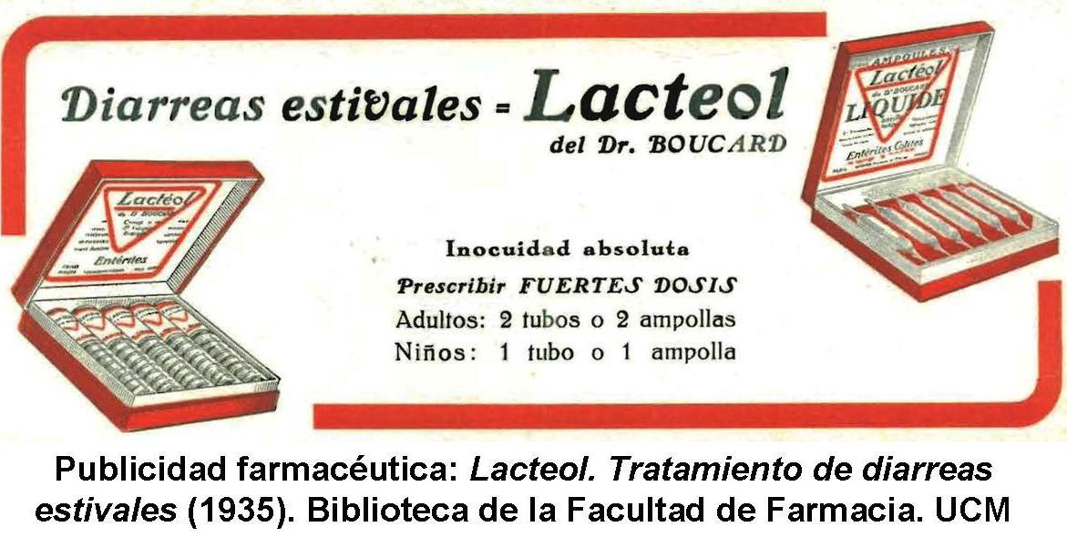 Publicidad farmacéutica. Lacteol