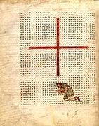 Rábano Mauro. De laudibus Crucis (s. IX)