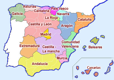 Resultado de imagen de Comunidades Autónomas