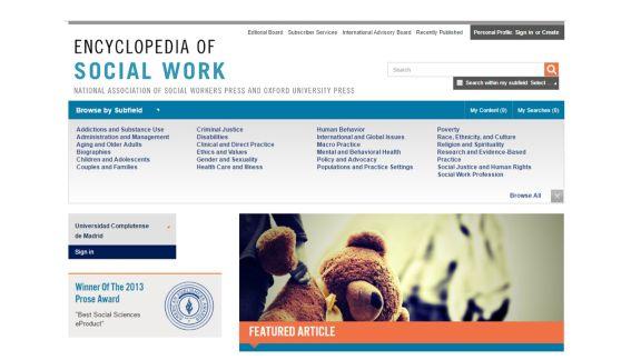 Nuevo recurso en prueba: Encyclopedia of Social Work