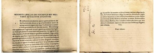 Un fragmento de incunable en las hojas de guarda de un impreso del siglo XVII