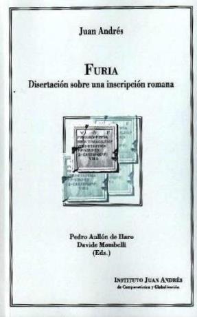 Furia. Disertación sobre una inscripción romana de Juan Andrés (Folio Complutense)
