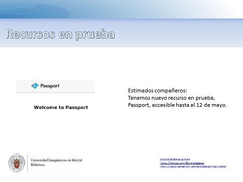 Nuevo recurso en pruebas: ACSEES Digital Library Passport