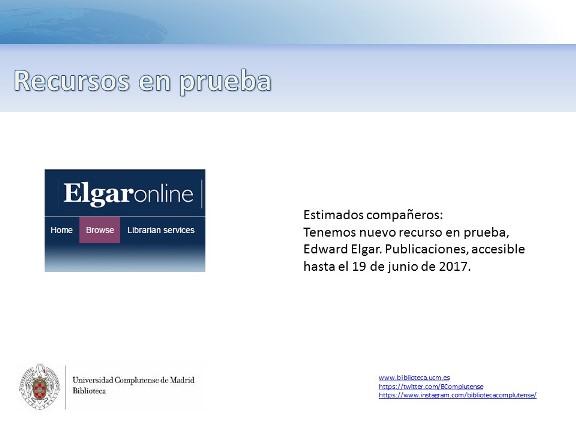 Nuevo recurso en pruebas: ElgarOnline