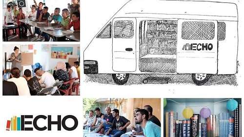 ECHO @refugeelibrary. Bibliofurgo para refugiados (Biblioteca y sociedad)