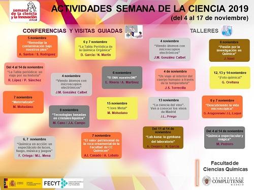SEMANA DE LA CIENCIA 2019