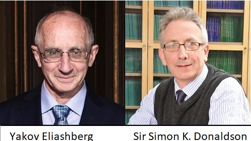 Yakov Eliashberg (Universidad de Stanford) y Sir Simon Kirwan Donaldson (Imperial College de Londres y Simons Center for Geometry and Physics de la Universidad de Stony Brook, de Nueva York)