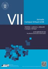Cartel de las VII Jornadas de Campus Virtual