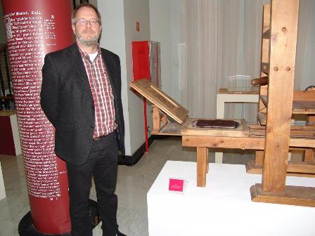 Visita a la Biblioteca Histórica del Dr. Falk Eisermann, director del Gesamkatalog der Wiegendrucke (Catálogo Colectivo General de Incunables)