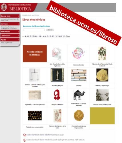 Página de libros electrónicos en la Web de la Biblioteca (La Biblioteca Informa)