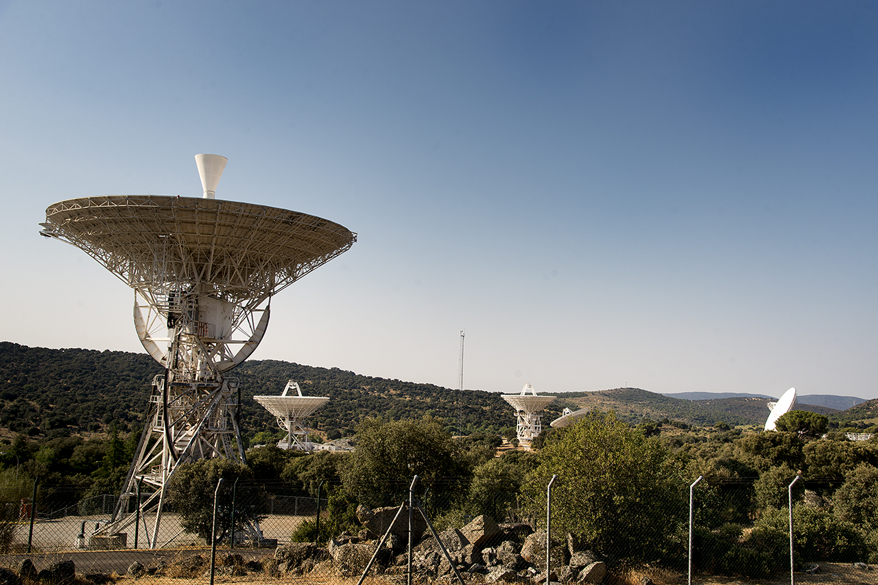 Vista del MDSCC (Madrid Deep Space Communications Complex)