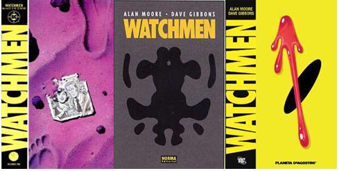 Portadas de diferentes ediciones de Watchmen