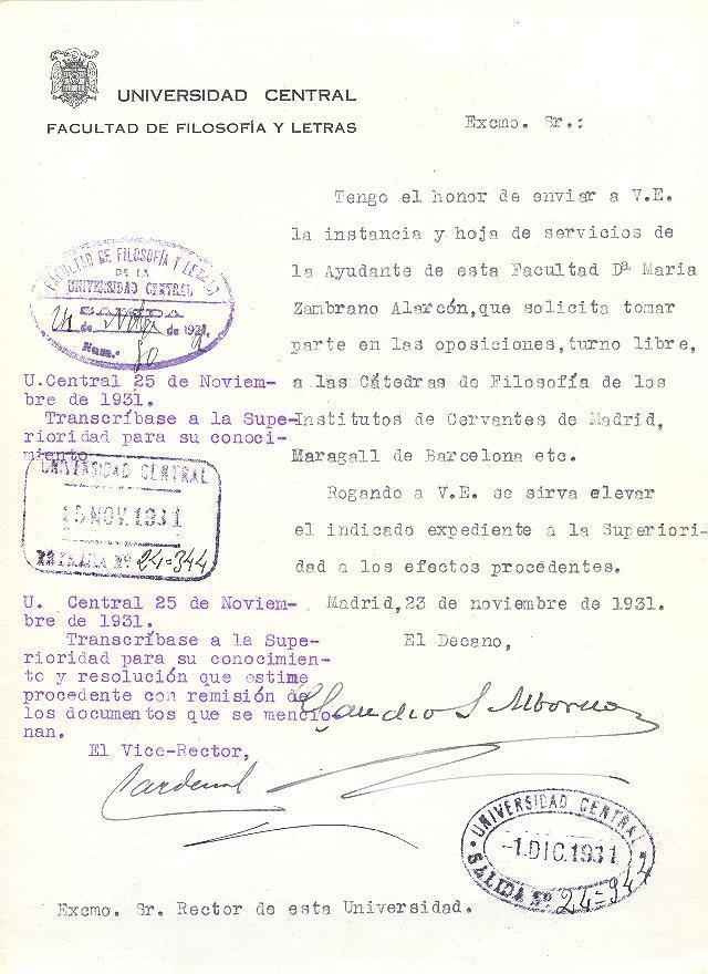Documento de archivo UCM