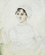 Retrato en acuarela de Jane Austen