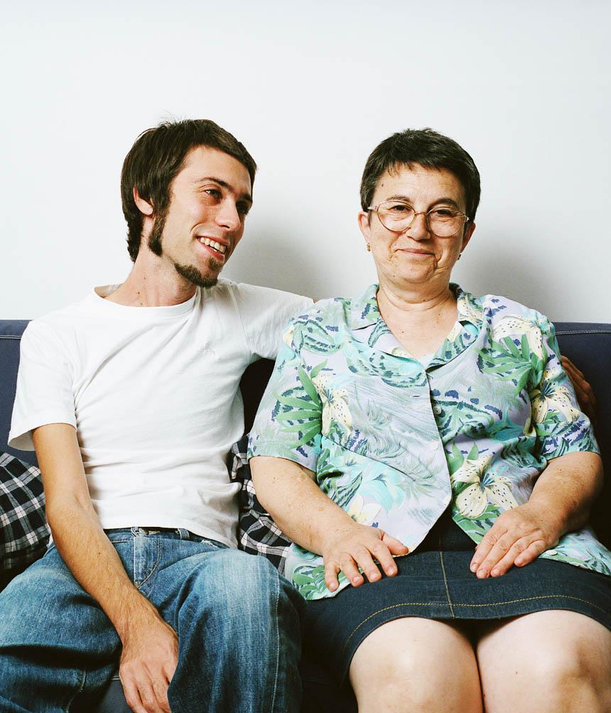 Juanjo Sáez y su madre