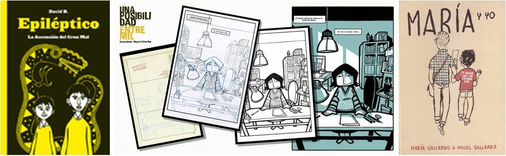 Imágnes de los tres comics diferente al del titular