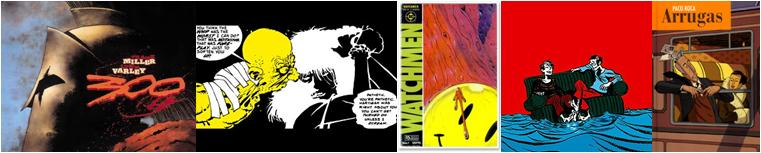 300 / Sin City / Watchmen / Píldoras azules / Arrugas
