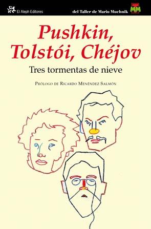 Cubierta con los nombres de Pushkin, Tolstói y Chéjov