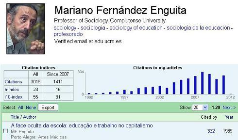 Datos de Mariano Fernández Enguita