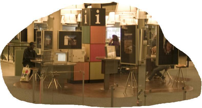 Punto de información en Biblioteca de Rotterdam