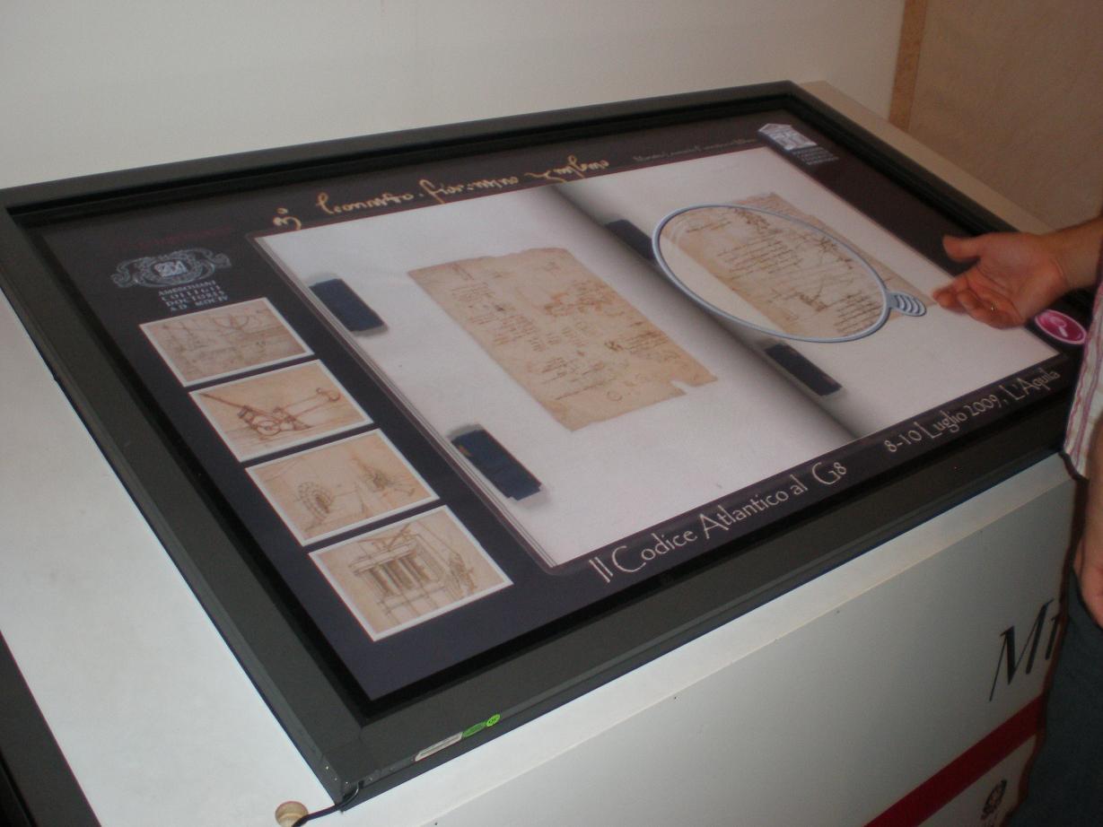 Leonardo y pantalla digital