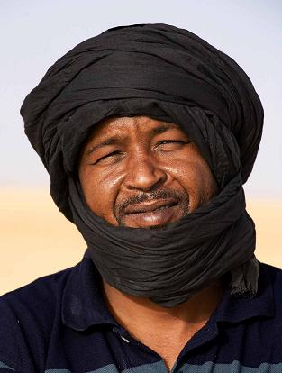 Rostro de hombre con turbante
