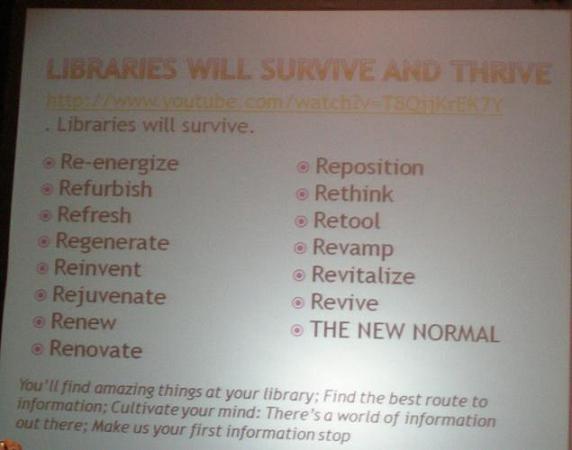 Diapositiva con muchos re-: reinventan, regeneran, revive...